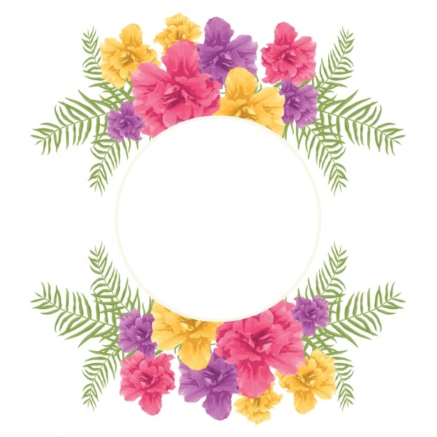 Fall Colored Background Wallpaper Floral Frame Design Vector Free Download