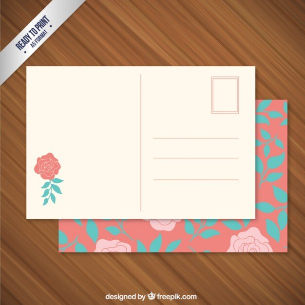 Floral post card Vector Free Download