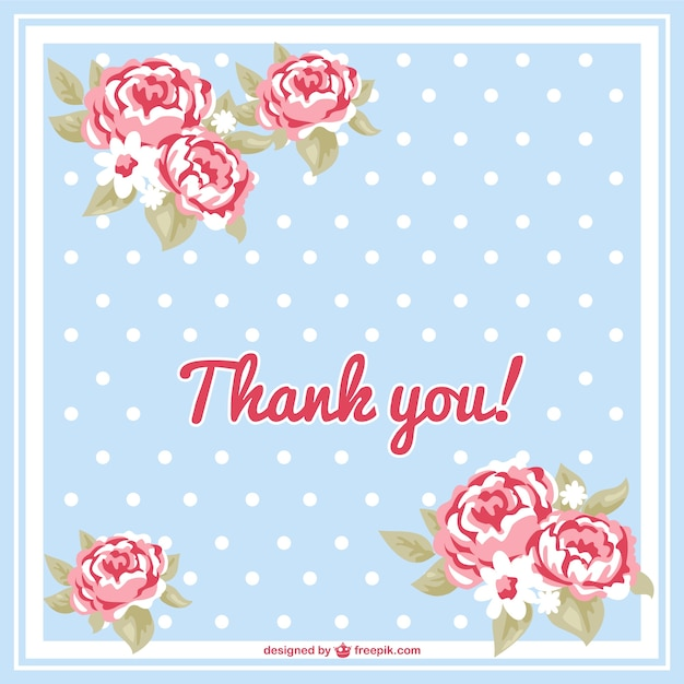 Floral thank you card Vector Free Download - free thank you cards