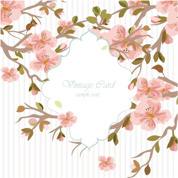 √ Floral watercolor wedding invitation template Vector