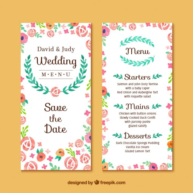 Floral wedding invitation card Vector Free Download - create invitation card free download