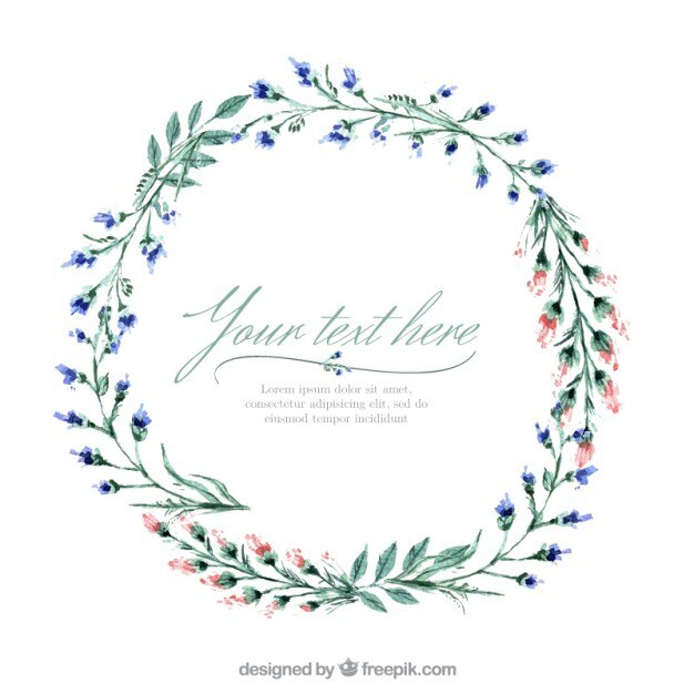 Fall In Love Leaf Wallpaper Floral Wreath Vector Free Download