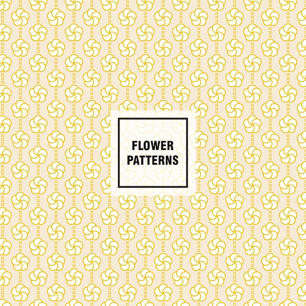 Flower vector pattern for decorating web page background and surface