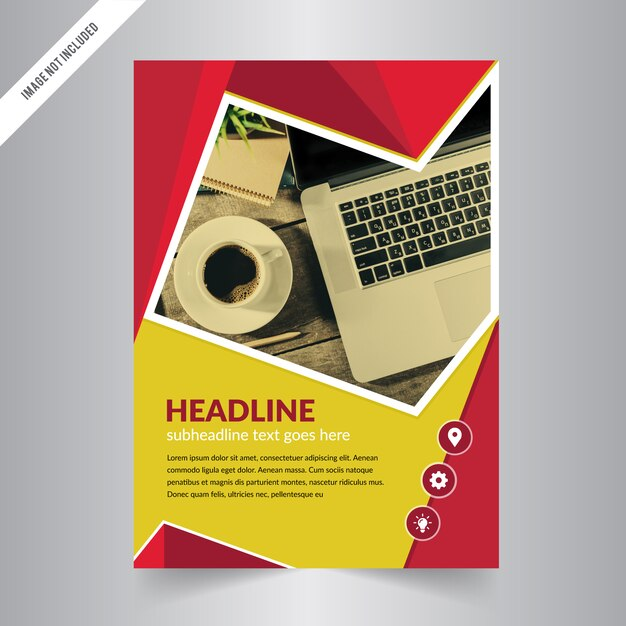 Flyer design Business brochure template Annual report cover