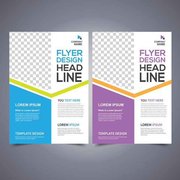 Flyer design template vector, Leaflet Design, Poster Design