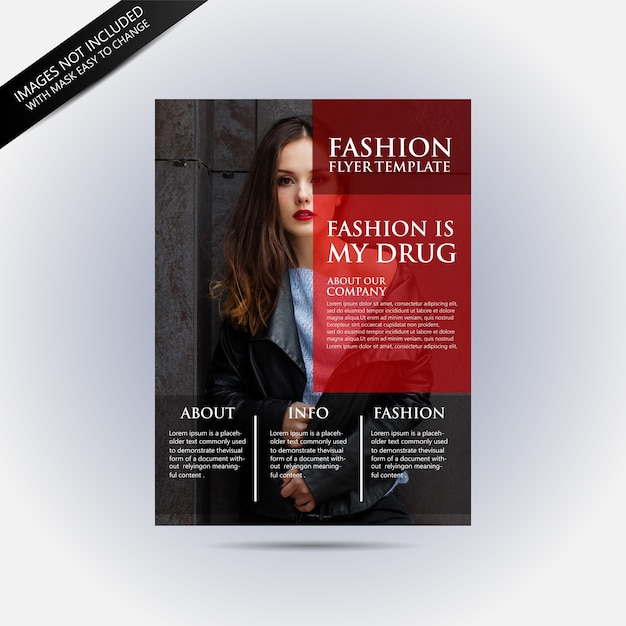 Flyer template with fashion concept Vector Premium Download