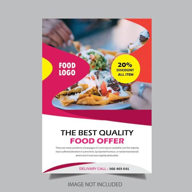 Food restaurant brochure design Vector Premium Download