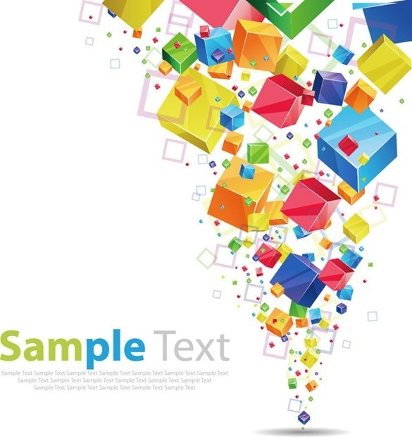 Free cube design background Vector Free Download