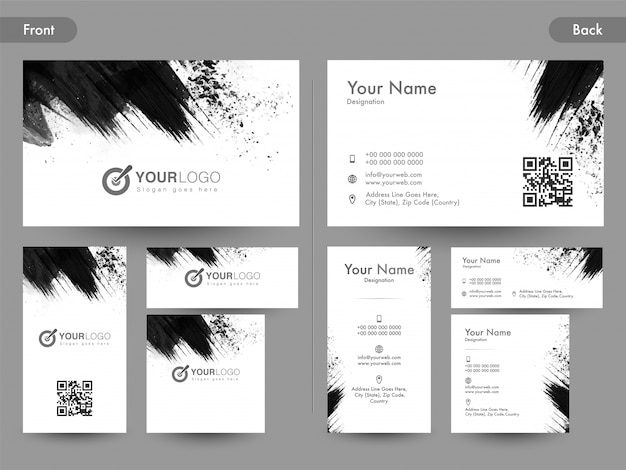 Download Vector - Abstract Front  Back Business Card Template