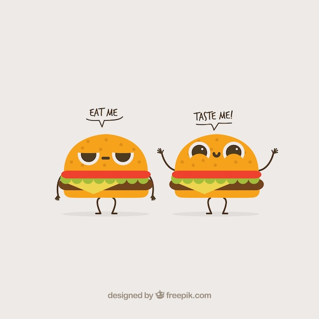Shutterstock Hd Wallpapers Funny Background With Two Burger Characters Vector Free