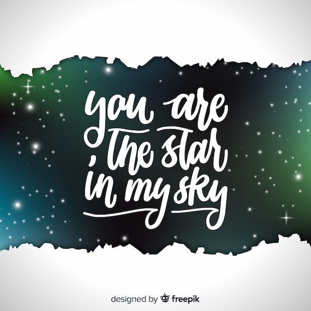 Galaxy background and quote design Vector Free Download