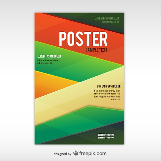Geometric abstract poster template Vector Free Download