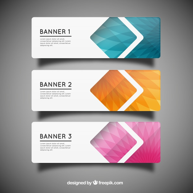 Geometric banner templates Vector Free Download - templates