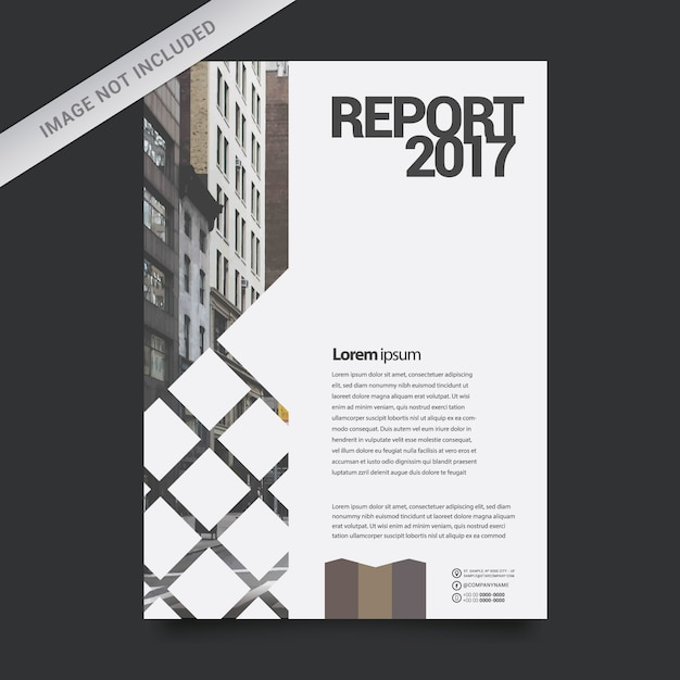 Geometric business report template Vector Free Download - company report template