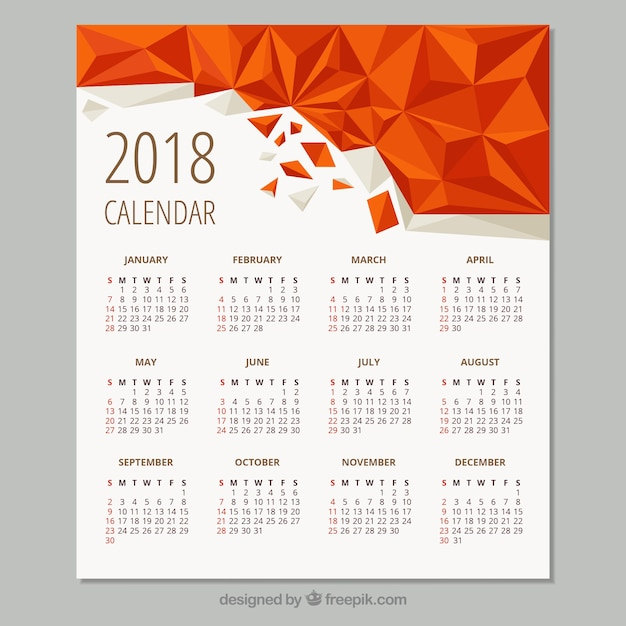 2018 Calendar Vectors, Photos and PSD files Free Download