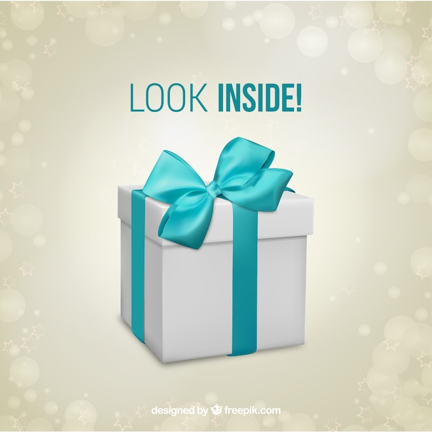 Gift box surprise template Vector Free Download - gift box template free