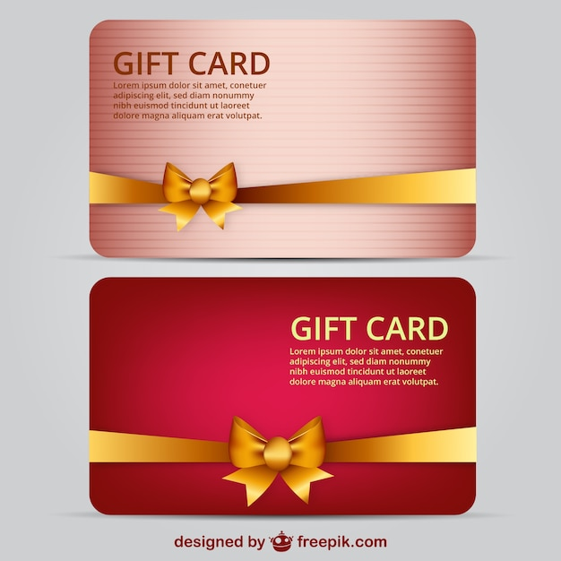 Gift card template Vector Free Download - gift card template
