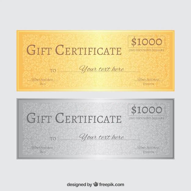 Gift certificate Vector Free Download