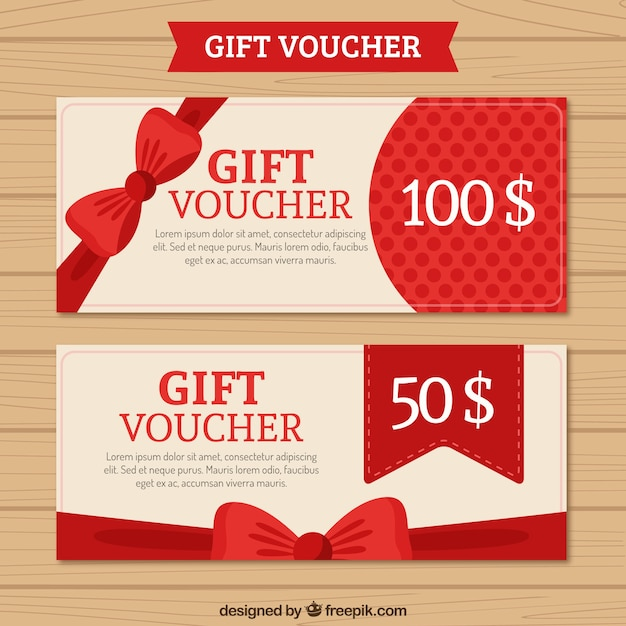 Gift Voucher Pack Vector Free Download