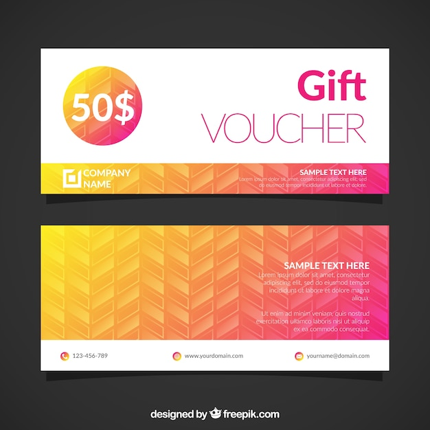 Gift Voucher Template Vector Free Download - gift voucher template
