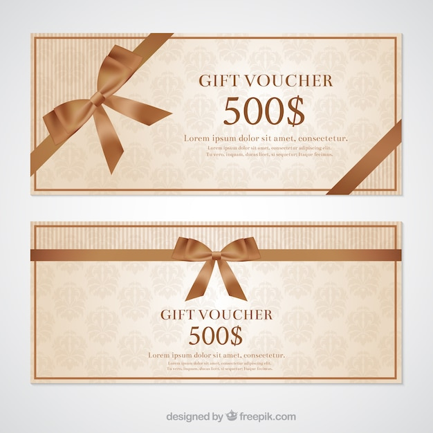Gift voucher Vector Free Download