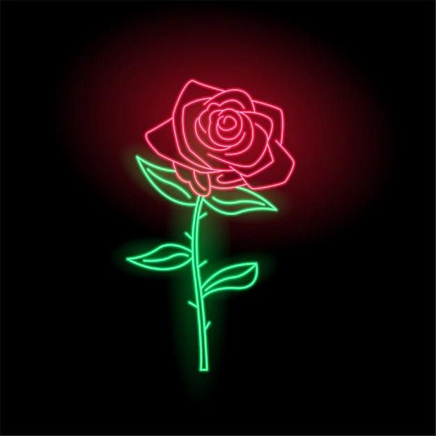 Cute Wallpaper Phone Free Glow Neon Rose Logo Vector Premium Download