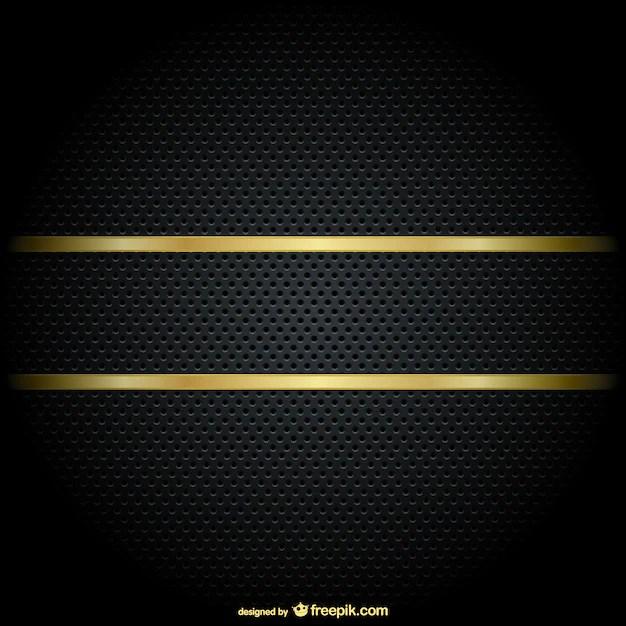 Gold border on a black background Vector Free Download - black border background