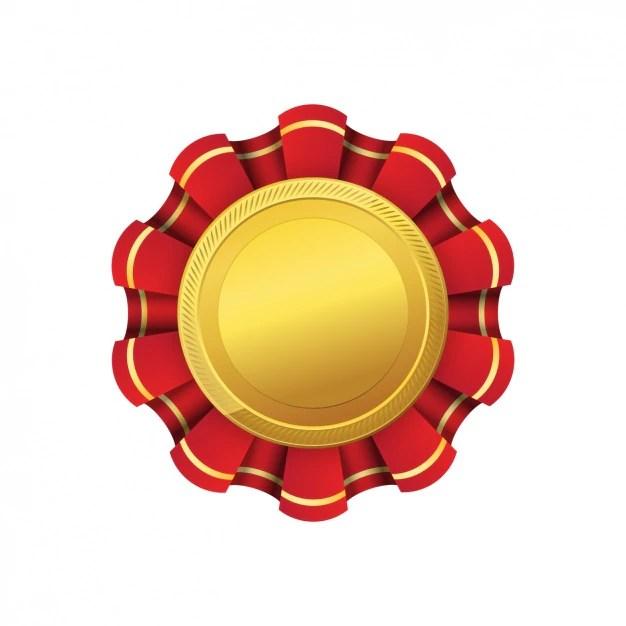 Golden medal design Vector Free Download - gold medal templates
