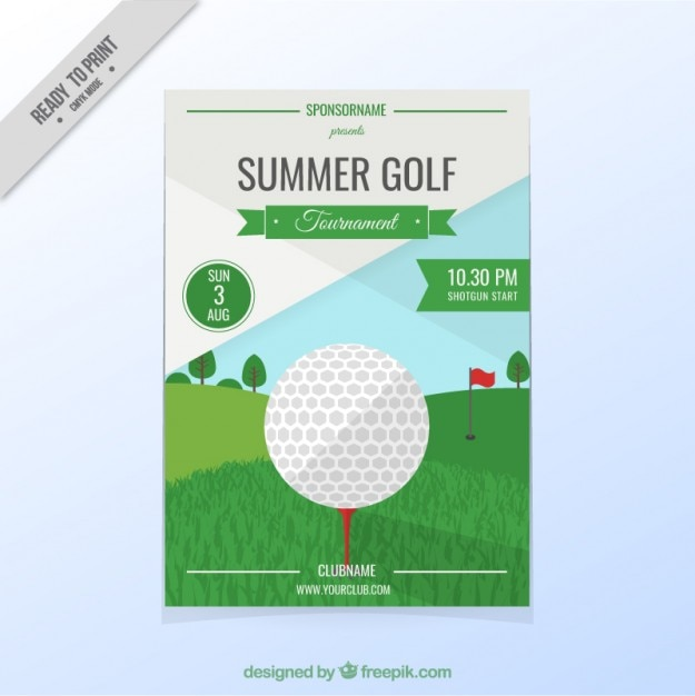 Golf tournament flyer Vector Free Download - golf tournament flyer template