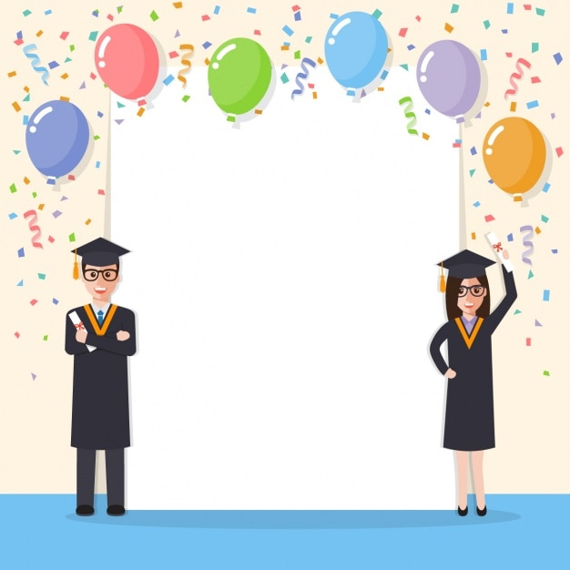 Graduation background design Vector Free Download