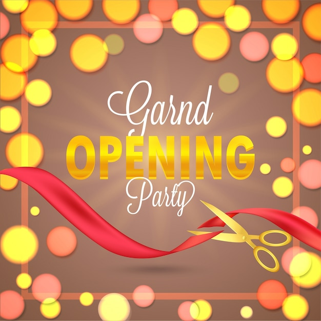 Grand opening flyer or invitation card Vector Premium Download - grand opening flyer