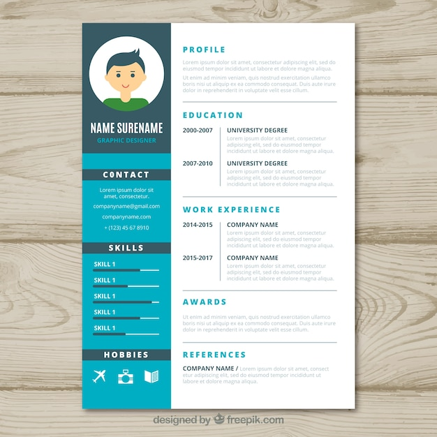 Graphic designer cv template Vector Free Download - graphic designer resume template
