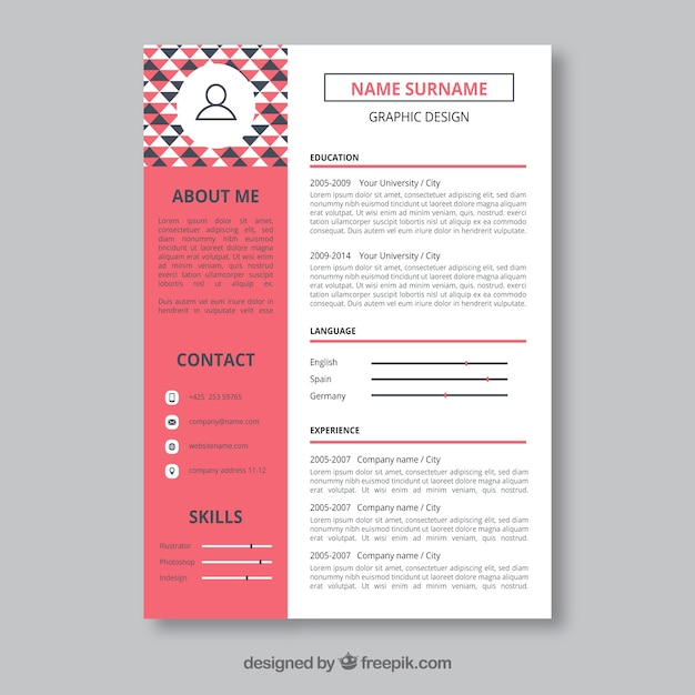free graphic design resume template - Ozilalmanoof