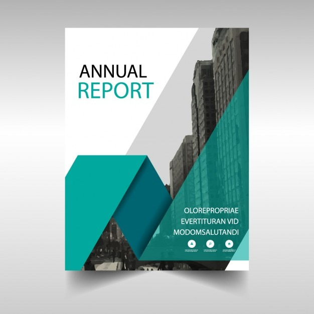 Green annual report cover template Vector Free Download - free annual report templates