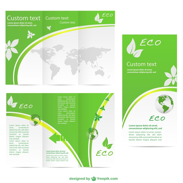 Green brochure template Vector Free Download - free pamphlet design