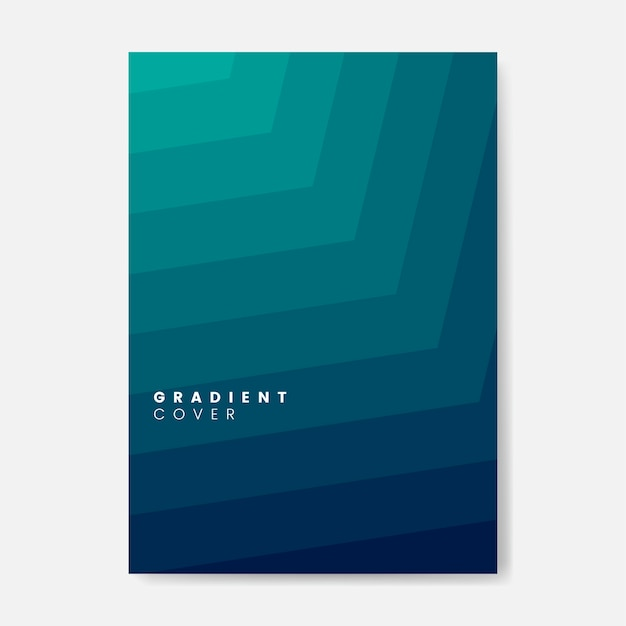 Green gradient cover graphic design Vector Free Download