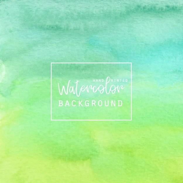 Green gradient watercolor background Vector Free Download