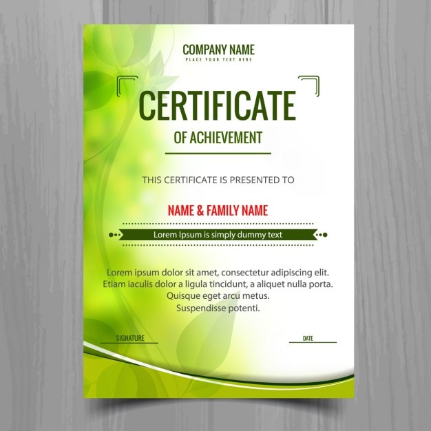 Green shiny certificate template Vector Free Download - creative certificate designs