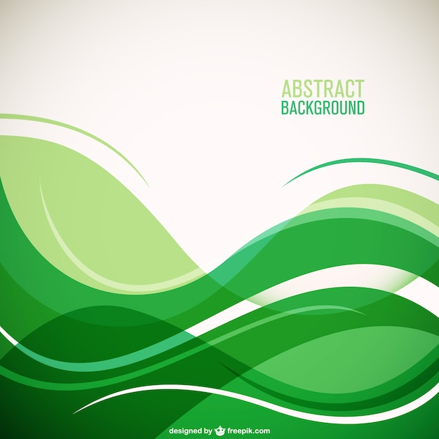 Green waves background Vector Free Download