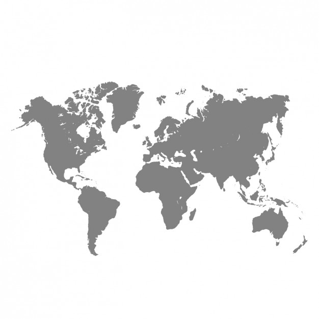 Grey world map Vector Free Download
