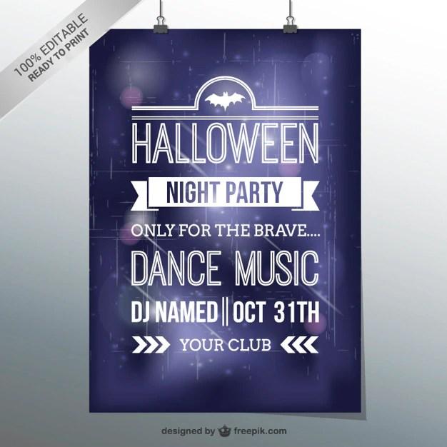 Halloween dance party flyer template Vector Free Download