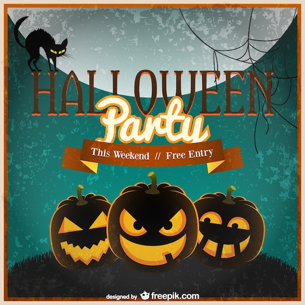 Halloween invitation template vector Vector Free Download - halloween invitation