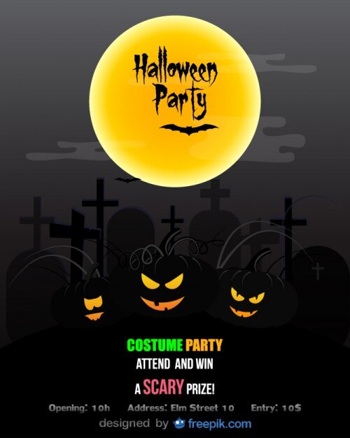 Halloween Party Flyer Costume party Stock Images Page Everypixel