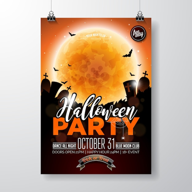 halloween night party poster template kids halloween flyer template - event flyer
