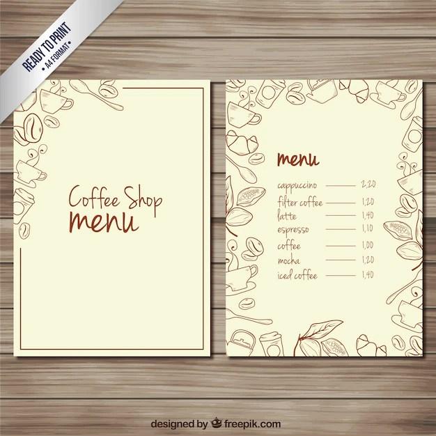 free coffee shop menu template - Minimfagency