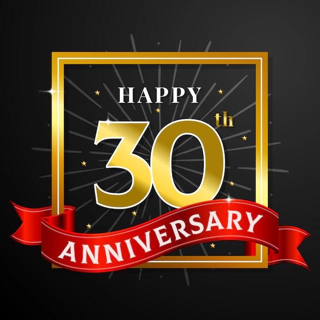 Happy Anniversary Card Template Vector Premium Download