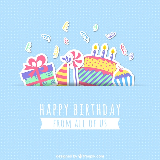 Happy birthday card Vector Free Download - birthday greetings download free