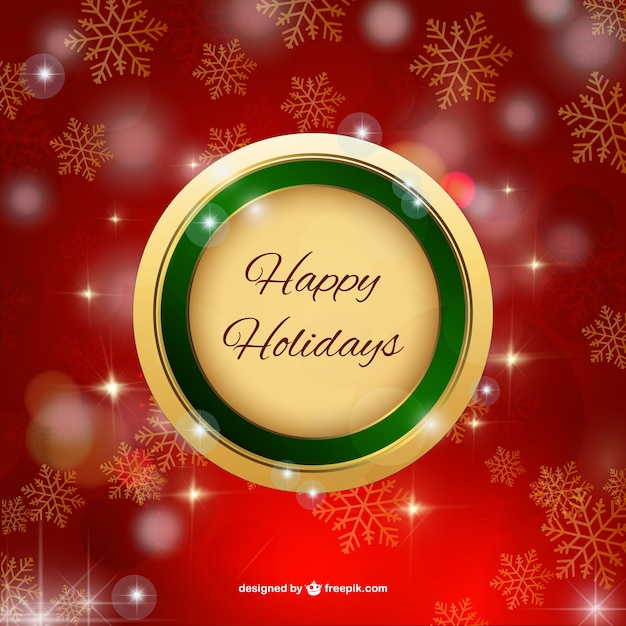 Happy holidays label Vector Free Download - free images happy holidays