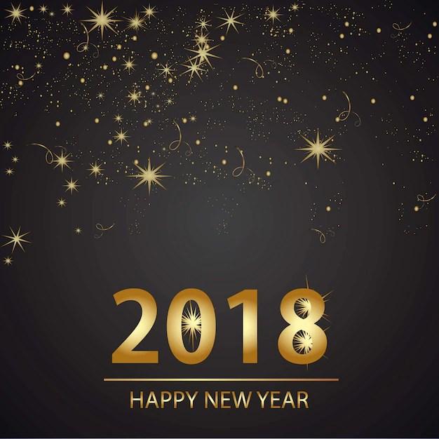 Happy new year background desgin Vector Free Download