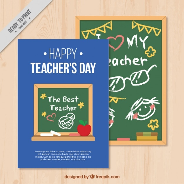 Happy teachers day card template Vector Free Download - templates for teachers